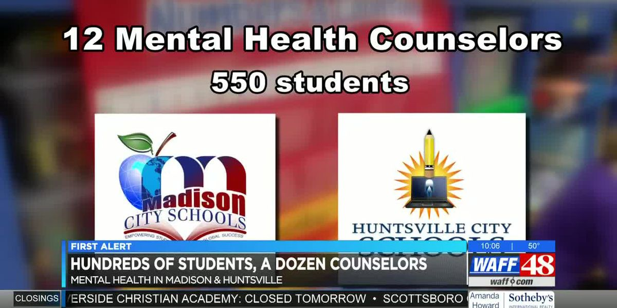 550 students in Huntsville, Madison meeting with 12 mental health counselors regularly