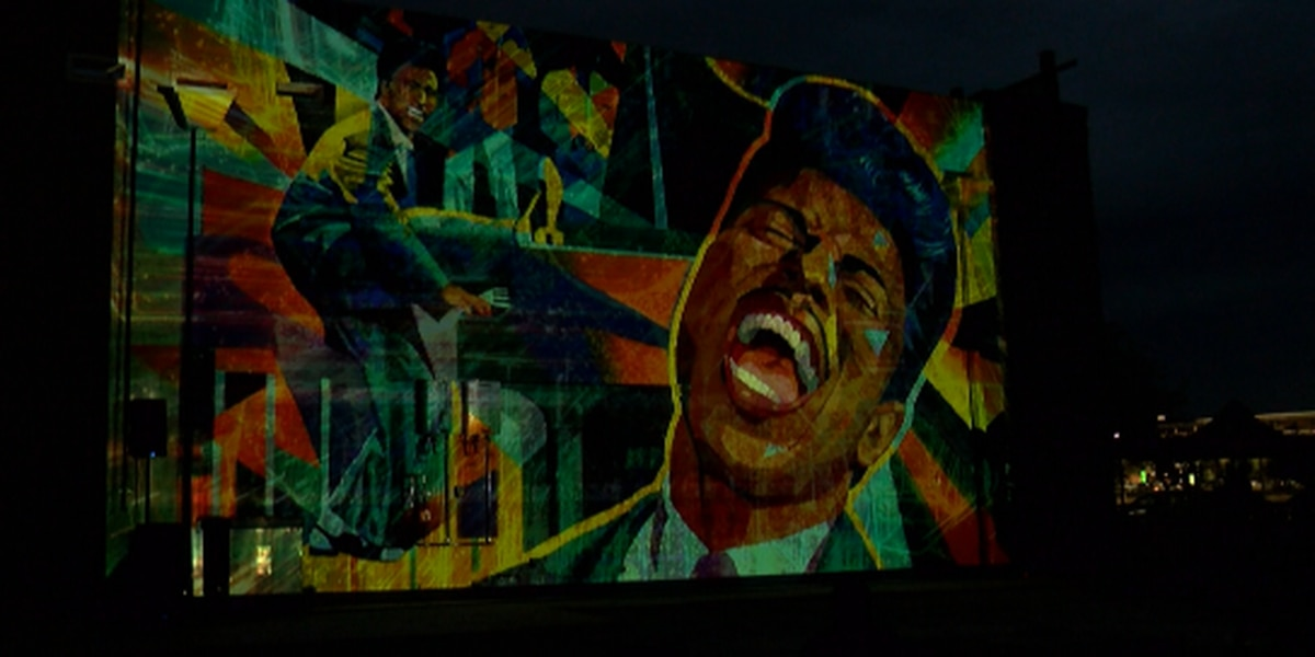 Little Richard mural lights up in MidCity after completion