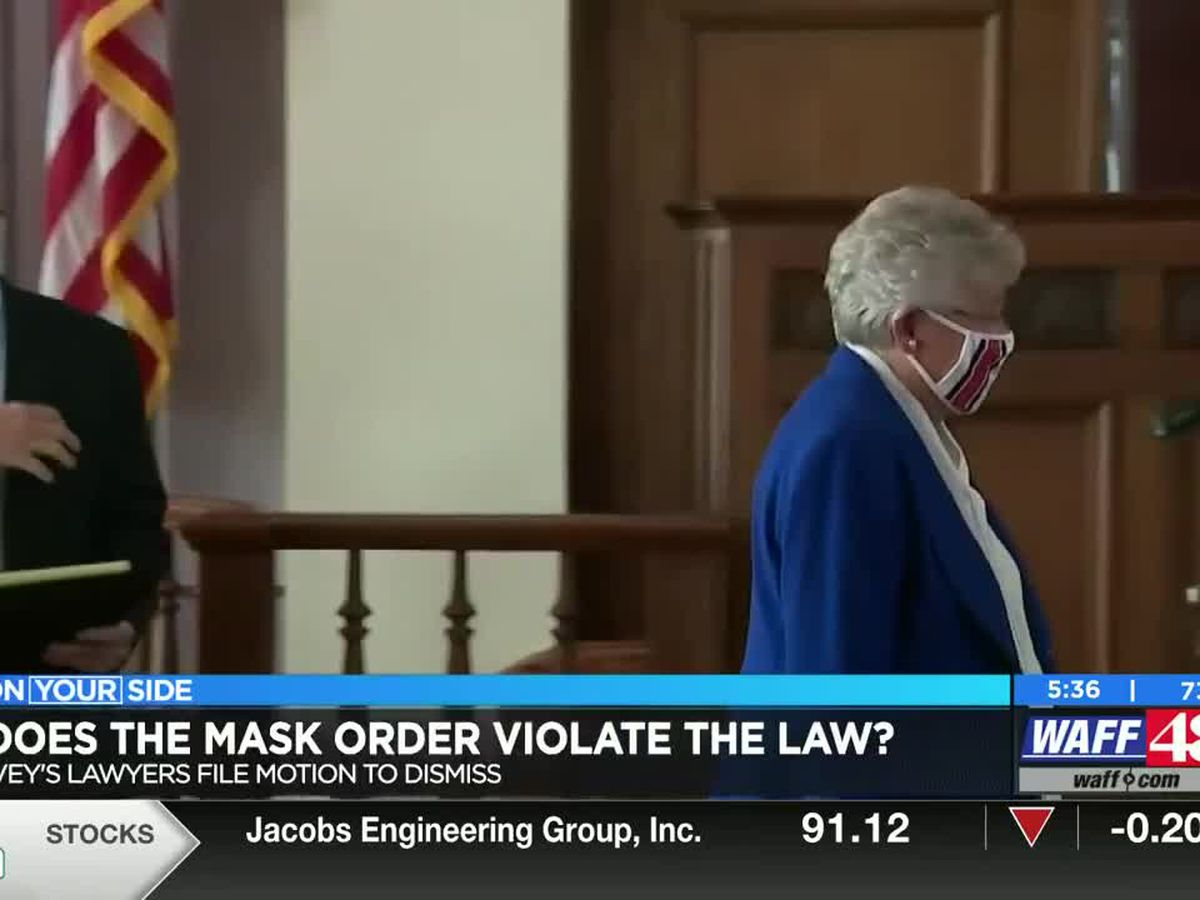 Governor Ivey's lawyers file motion to dismiss mask lawsuit