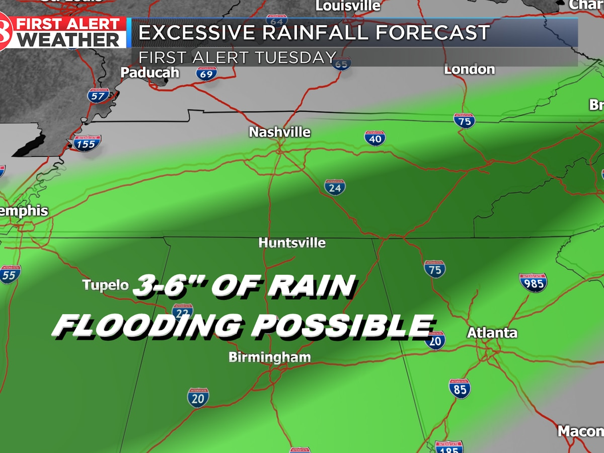 Wet pattern with possible flooding on the way