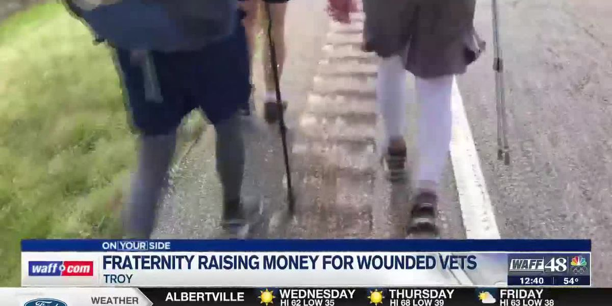 Members of Alpha Tau Omega raise money for wounded vets