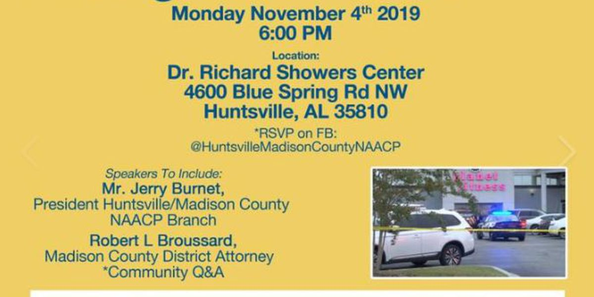 Huntsville/Madison County NAACP hosting town hall on police use of deadly force