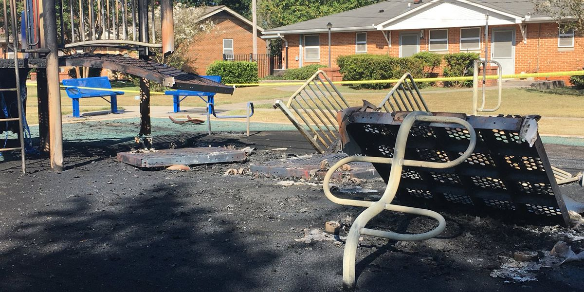 Scorched playground in Huntsville under investigation