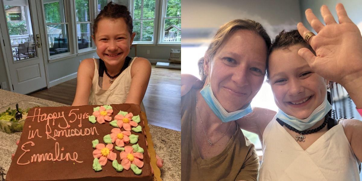 10-year-old Emmaline Tringali officially a Burkitt's Non Hodgkin's Lymphoma survivor