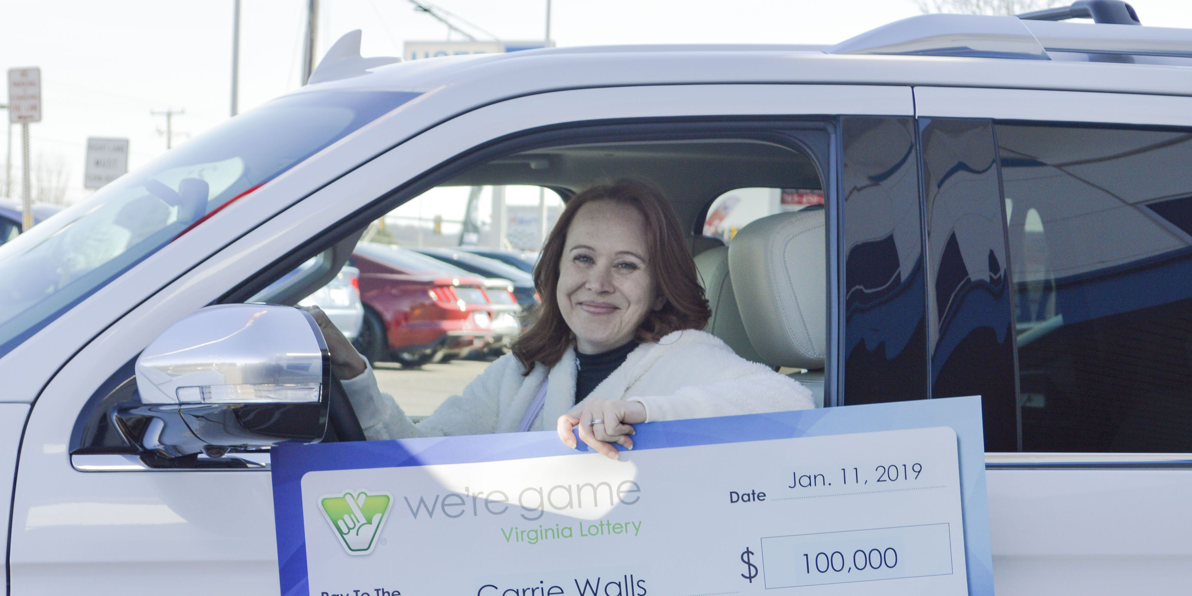 Spouse of furloughed government worker wins $100K, SUV lottery prizes