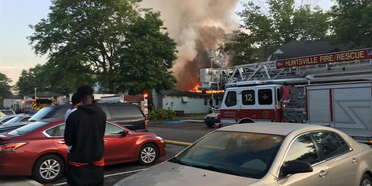 Firefighters battle blaze on Sparkman Drive