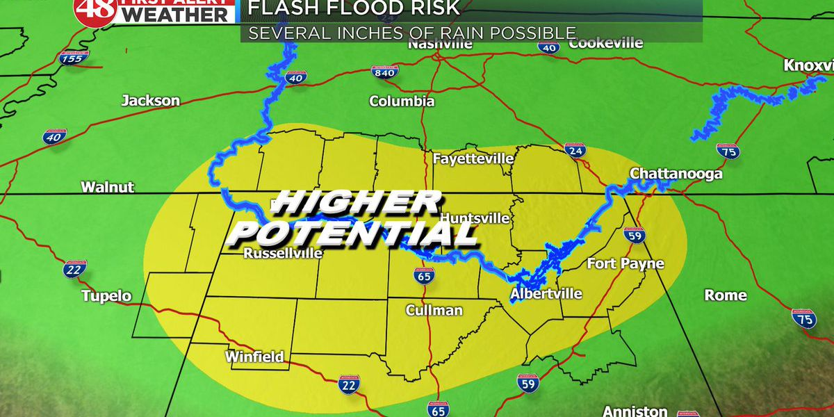 FIRST ALERT: Flash Flood Warning for part of Tennessee Valley