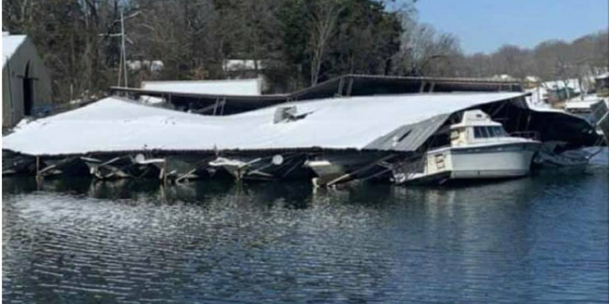 Clean-up underway after roof collapses at Muscle Shoals marina