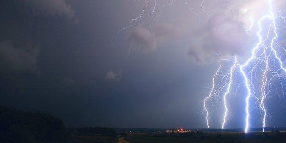 Lightning strikes home in Tuscumbia