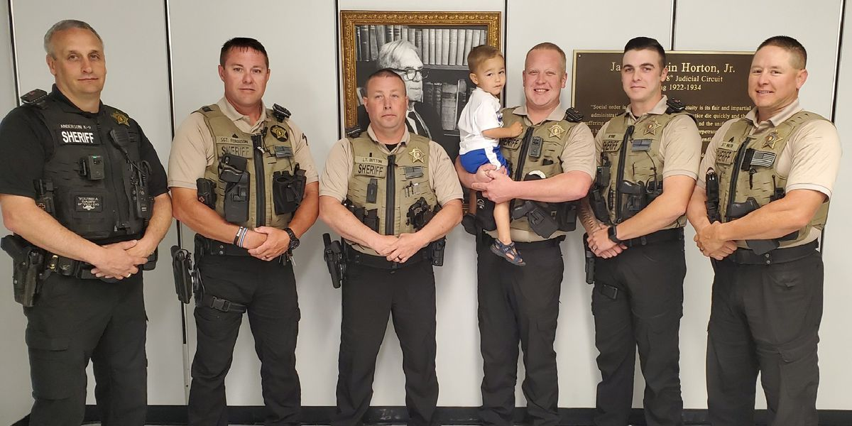 Deputies reunite with little boy they helped save from drowning almost one year later