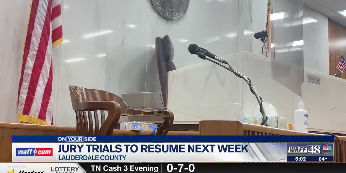 Jury trials resume in Lauderdale County Monday with updated safety precautions