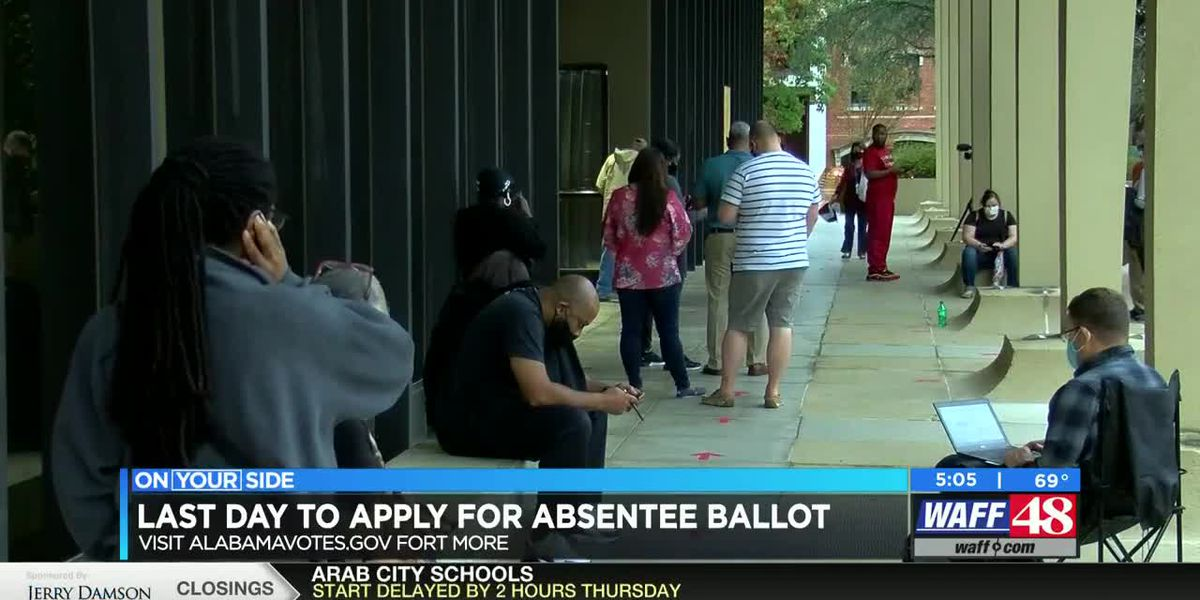 Last day to apply for an absentee ballot
