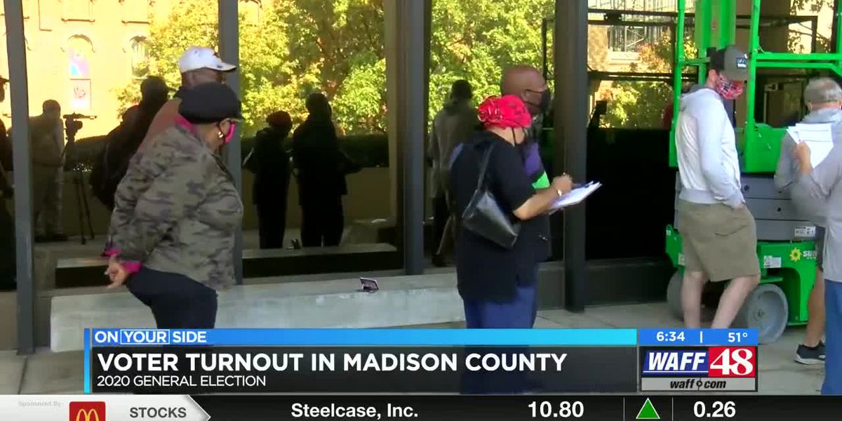 Voter turnout in Madison County slightly higher than the state average