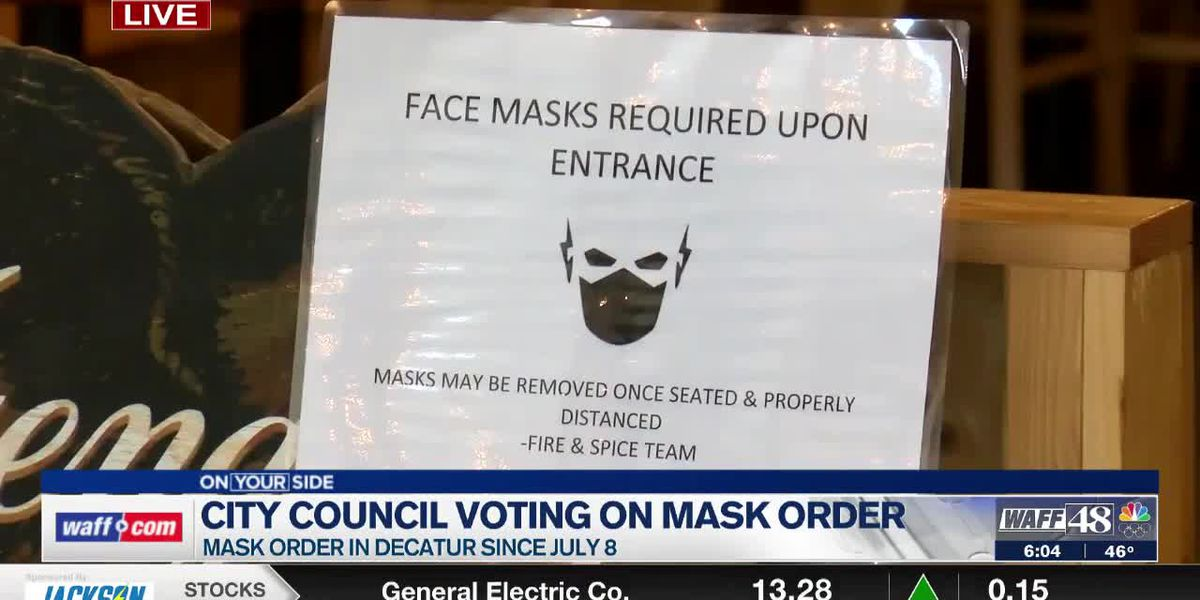Decatur City Council set to discuss local mask order