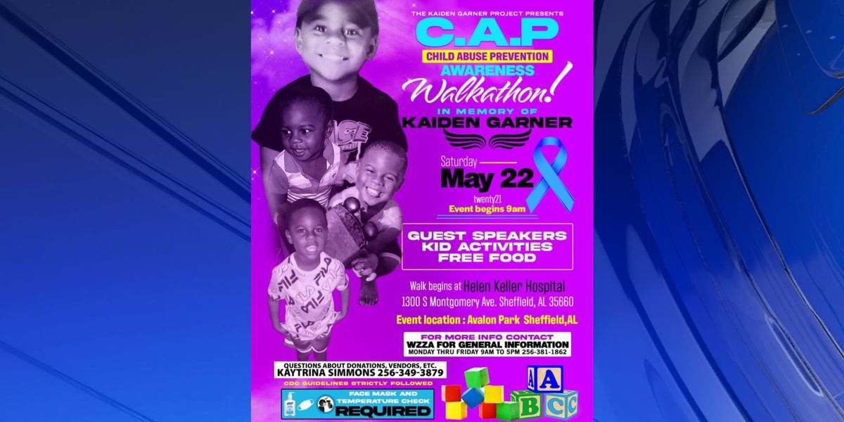 The Kaiden Garner Project hosting child abuse prevention walk-a-thon in Sheffield