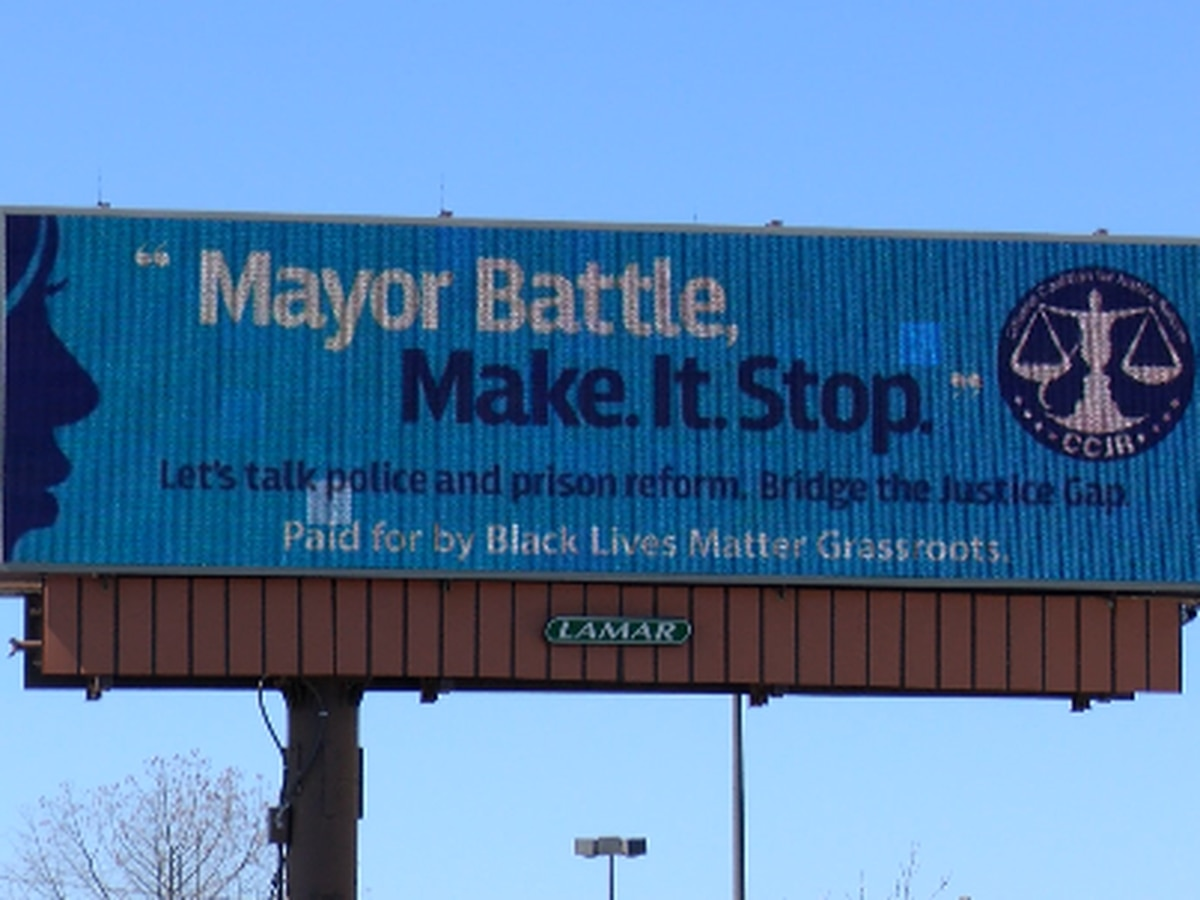 Criminal justice reform group puts up billboard addressing Mayor Battle in Huntsville