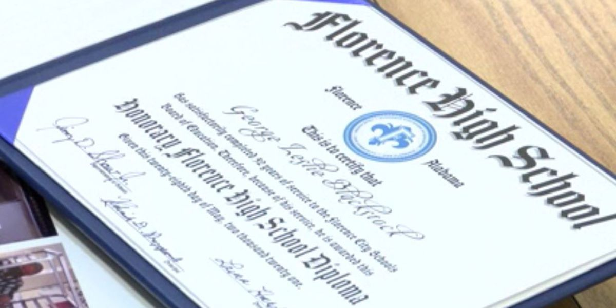 Custodian receives honorary high school diploma after 5 decades of service