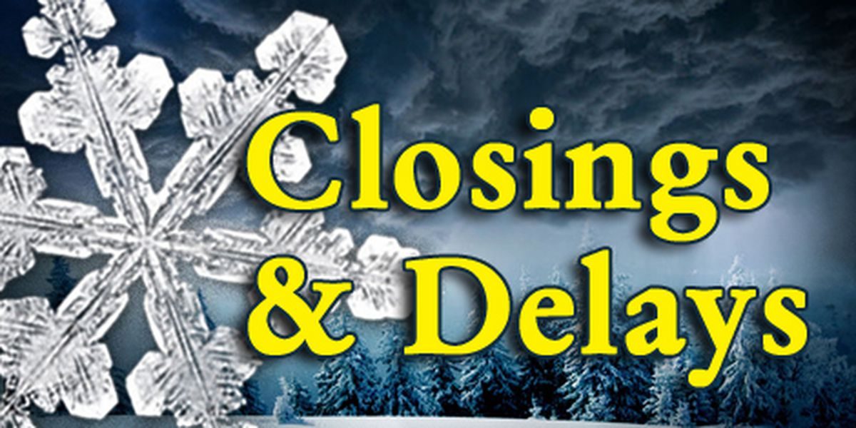 See Friday's latest list of closures, delays