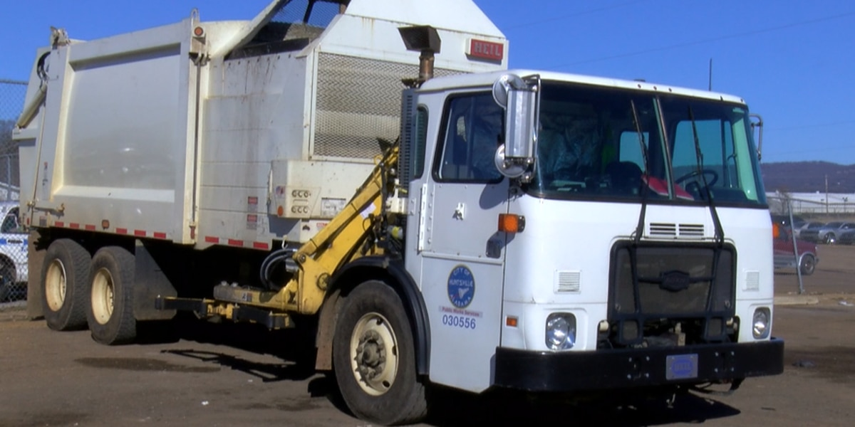 Huntsville garbage collection on one day delay