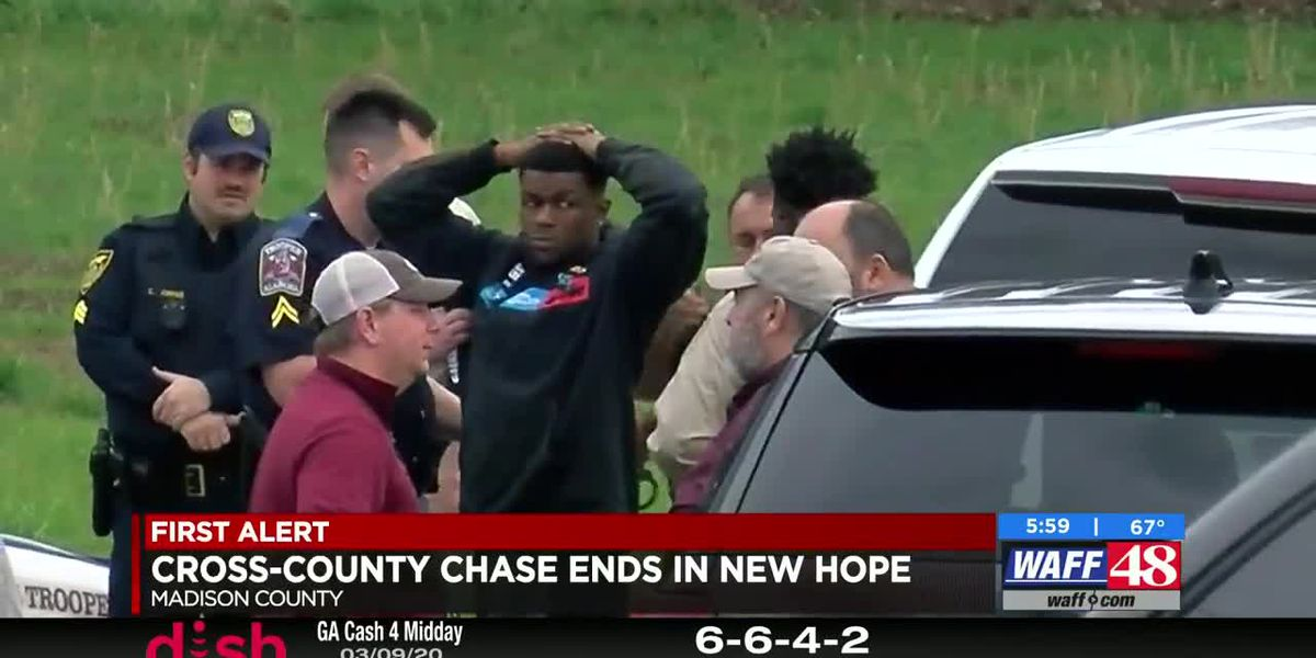 Man in custody after multicounty chase ends in New Hope