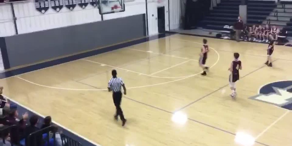 Randolph Middle School Basketball player makes full court shot