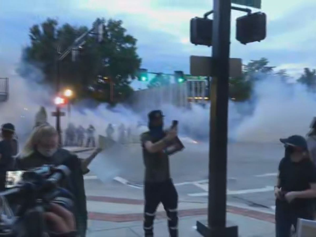 UPDATED: Downtown Huntsville protest ends with riot gas, arrests