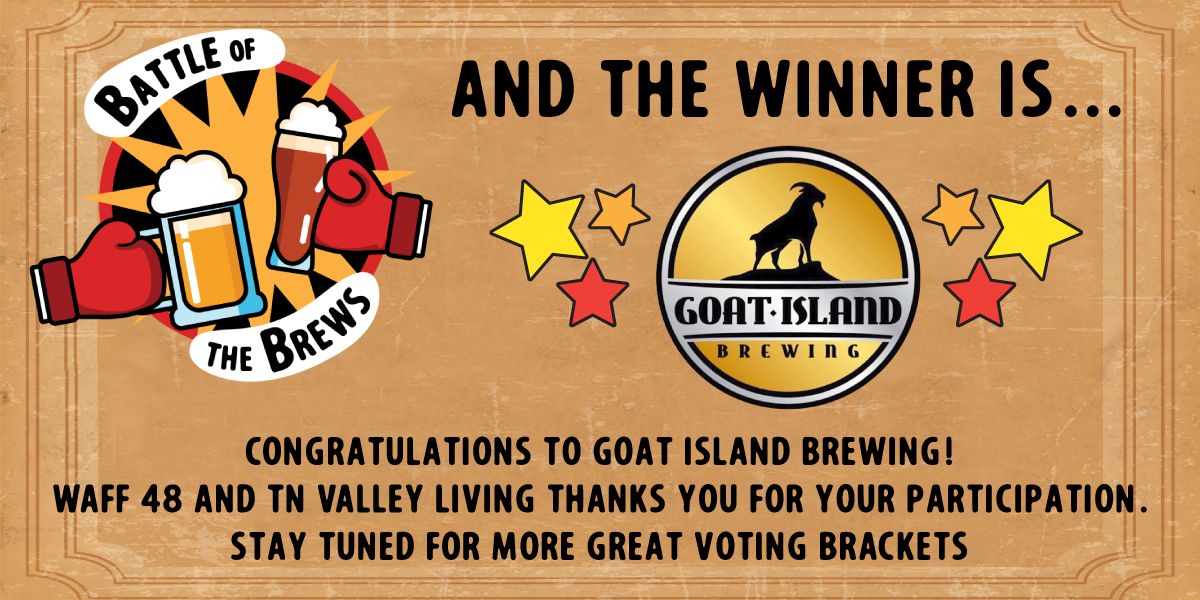 Battle of the Brews: Goat Island Brewing wins Best Beer in the Tennessee Valley