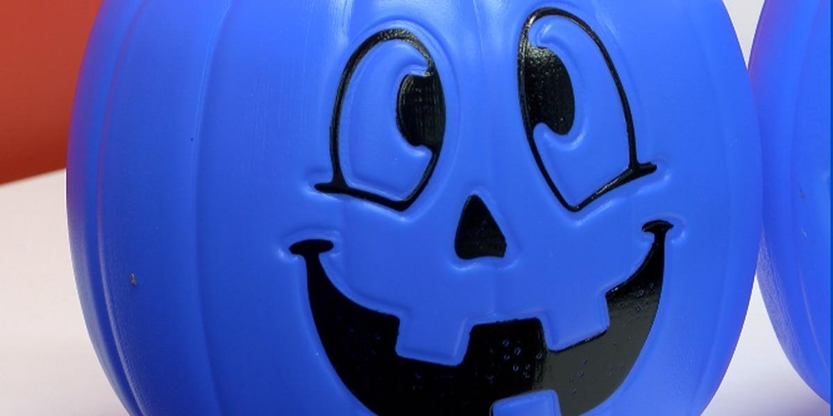 Blue pumpkins raising autism awareness this Halloween
