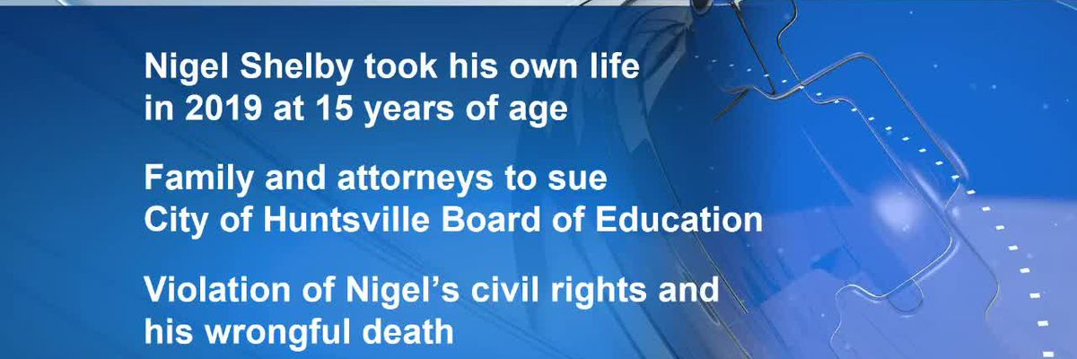 Attorneys, family of Nigel Shelby announce lawsuit against City of Huntsville Board of Education