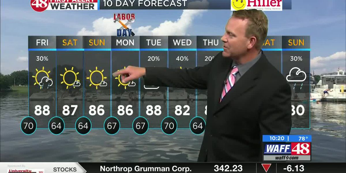A cool morning with possible rain on the way