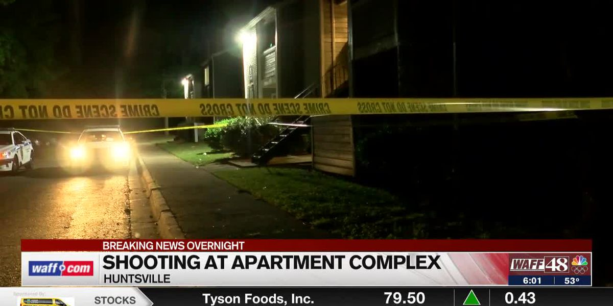 Huntsville police investigating an overnight apartment shooting