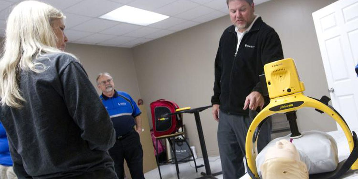 Shoals Ambulance installing automated chest compression devices