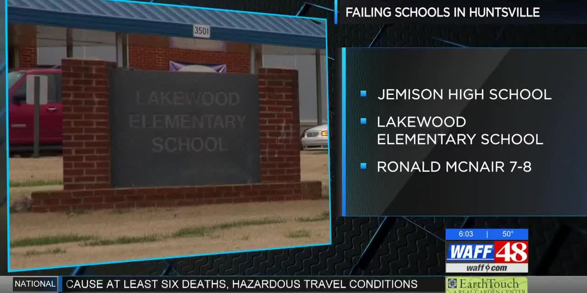 3 Huntsville schools on state's failing schools list