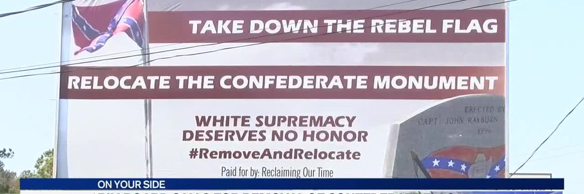 Billboard calls for removal of Confederate flag