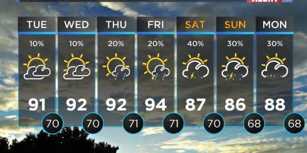 LOOK AHEAD: Dense fog for some areas, temperatures reaching low 90s