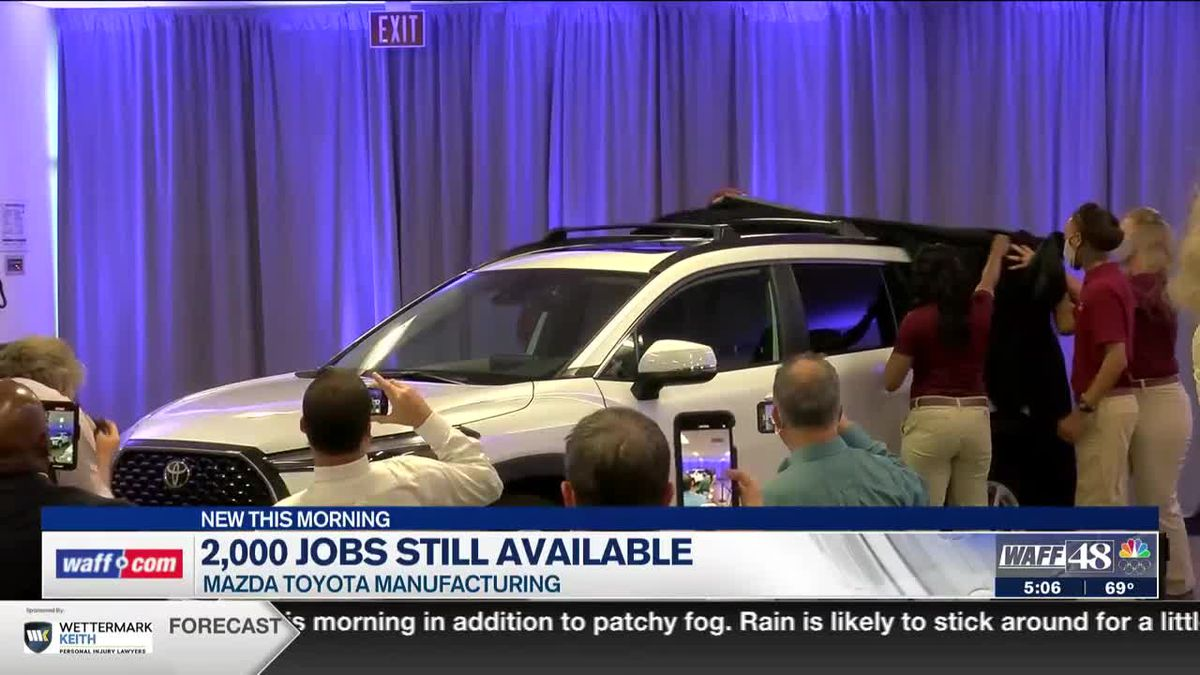 Mazda Toyota Manufacturing still looking to fill more than 2,000 jobs
