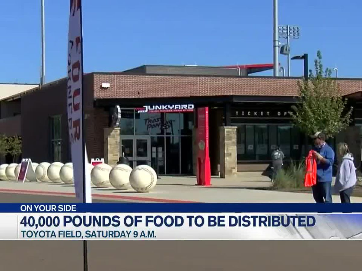 40,000 pounds of free groceries to be distributed at Toyota Field Saturday