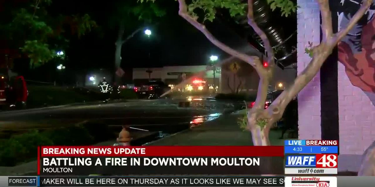 Fire devastates downtown Moulton