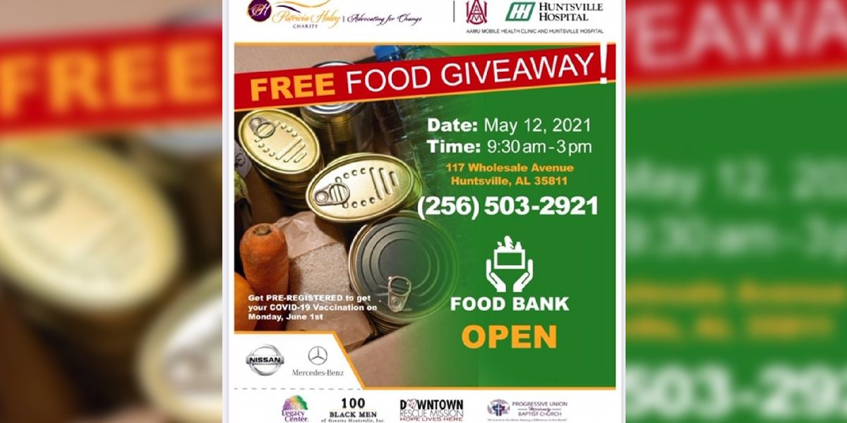 Patricia Haley Charity hosting free food giveaway in Huntsville