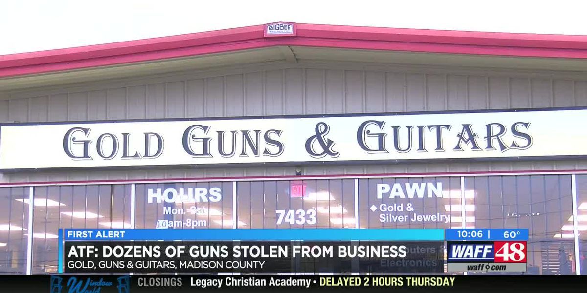 Approximately 35 firearms stolen from Madison pawn shop