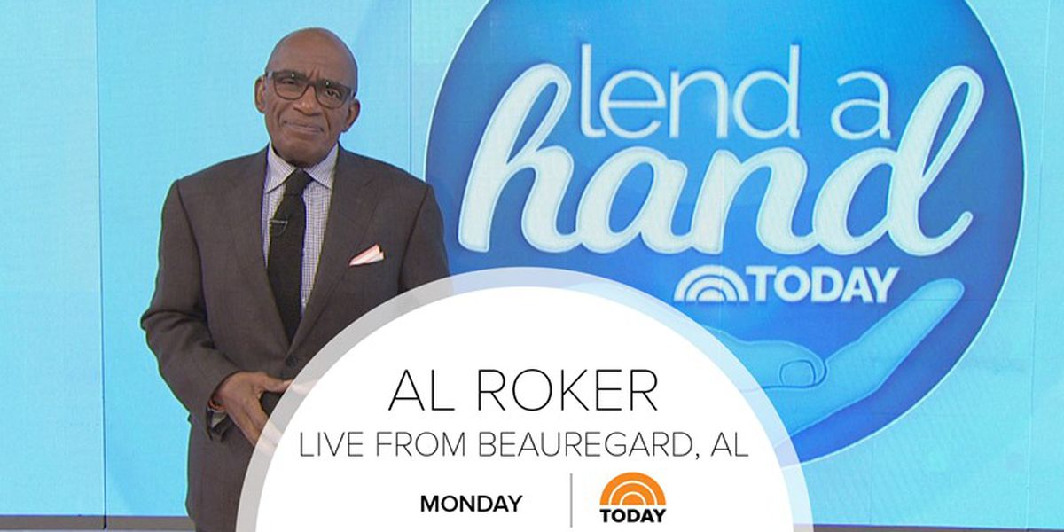 TODAY's Al Roker visits tornado damaged area in Alabama