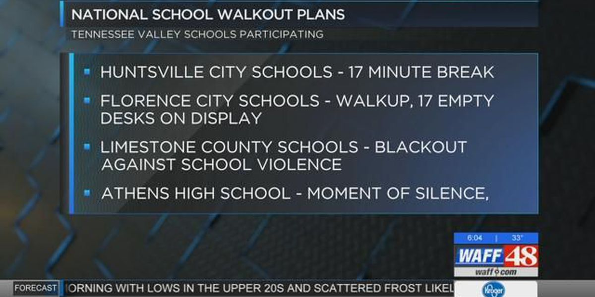 TN Valley Schools participating in National School Walkout