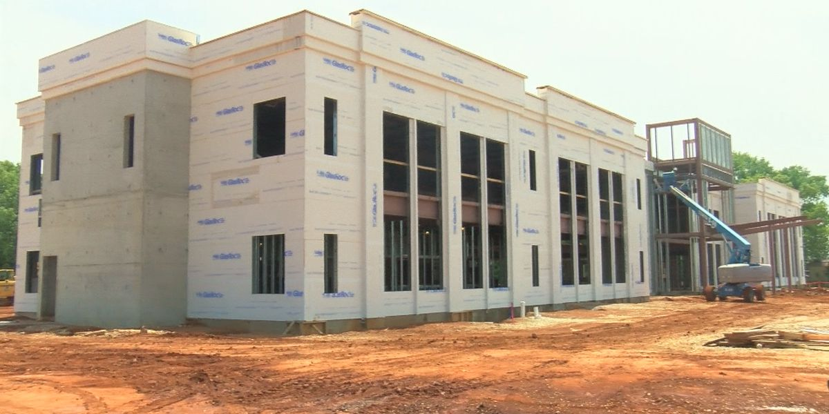 Rain impacting Madison County Service Center construction