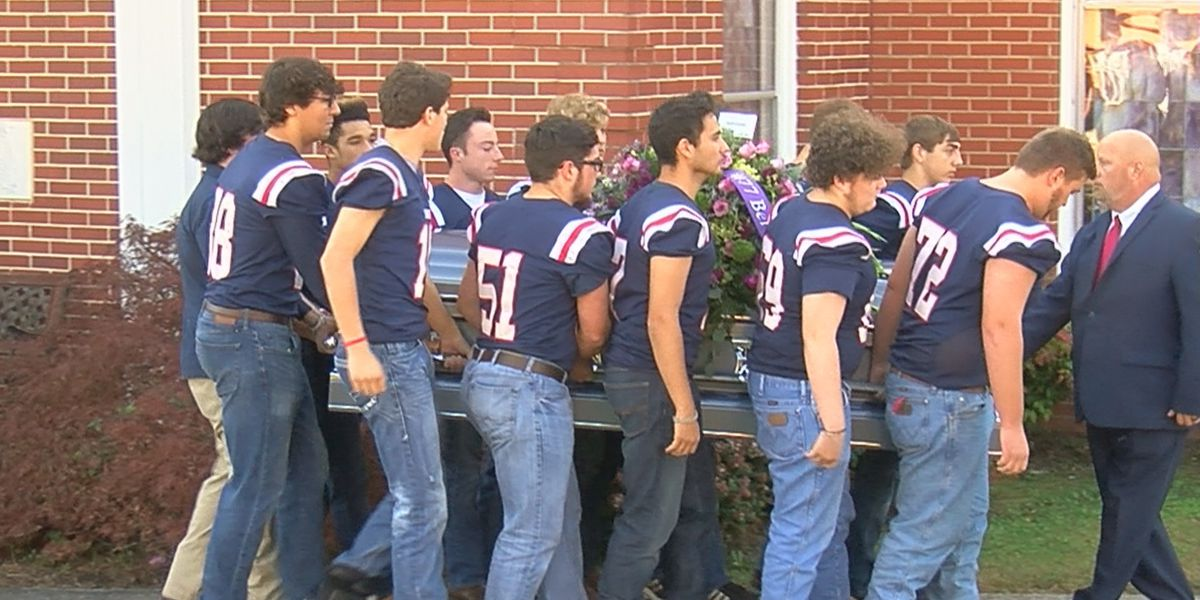 Grant High School football players attend funeral for teammate Eli Spray