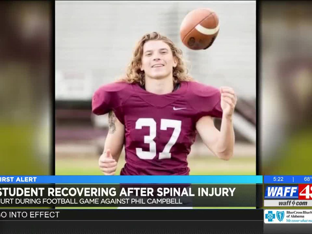 Lauderdale County football player recovering after spinal cord injury