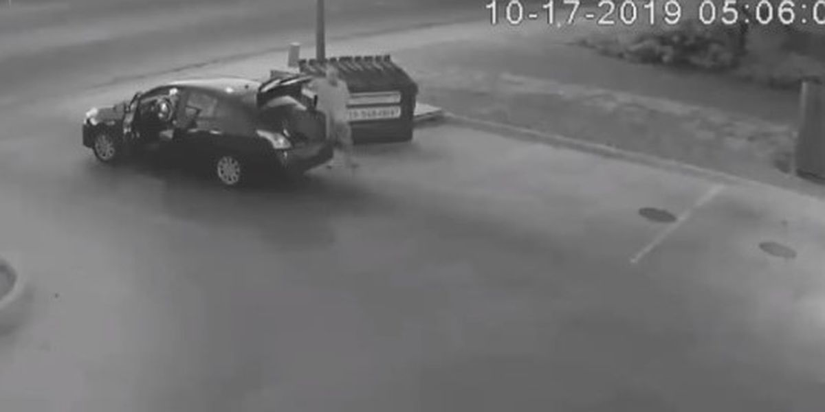 GRAPHIC: Video shows man throw woman's body in dumpster; police searching for suspect
