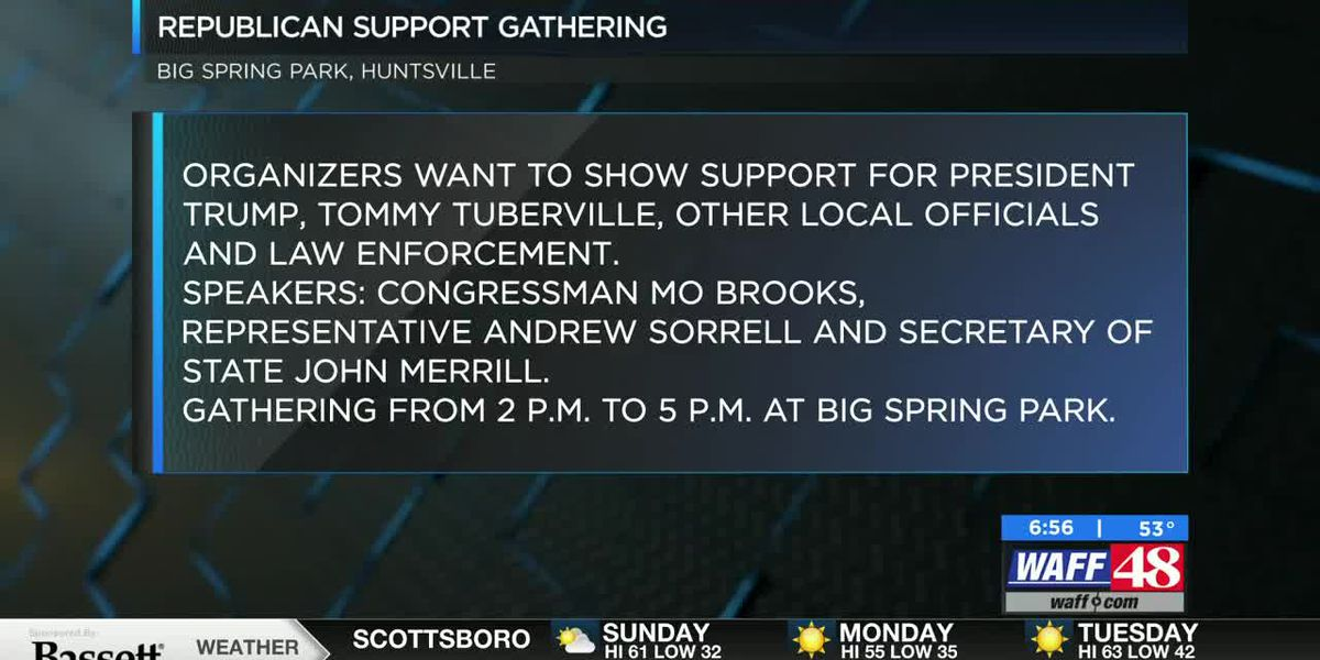 'Republican Support Gathering' happening today at Big Spring Park