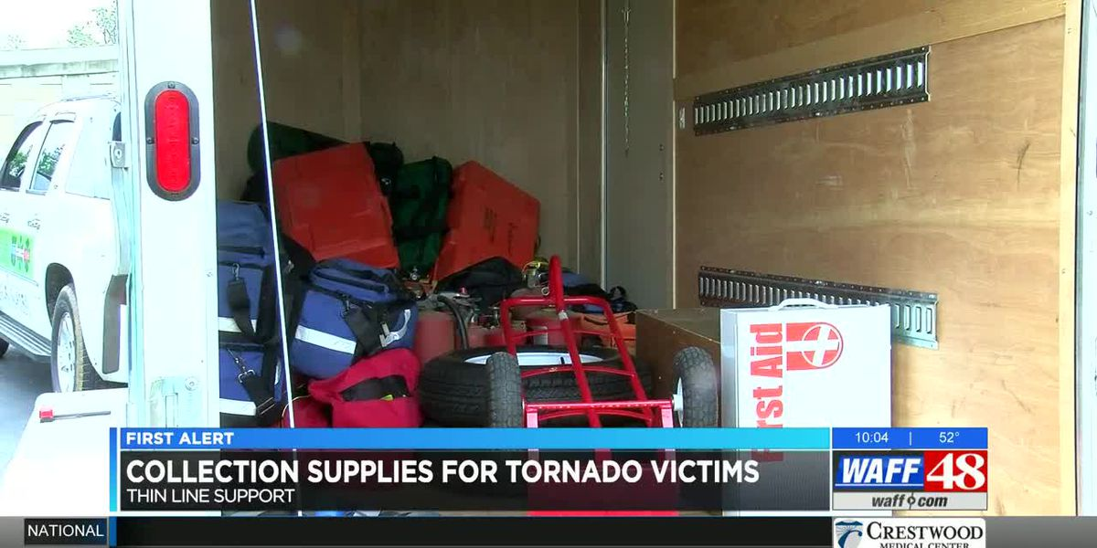 Huntsville's Thin Line Support collecting donations for Mississippi tornado victims