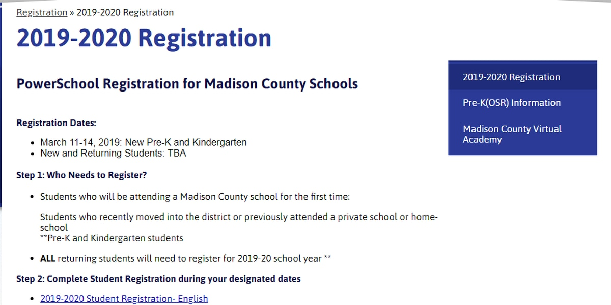 Madison County schools switch to online registration