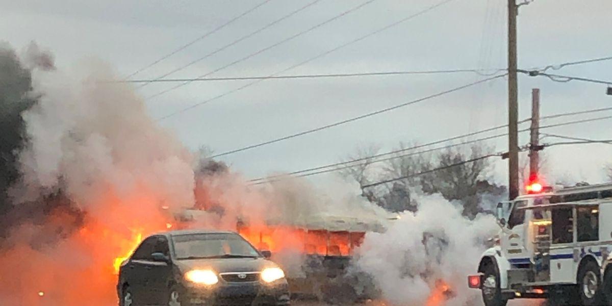 TN school bus erupts in flames; no children injured